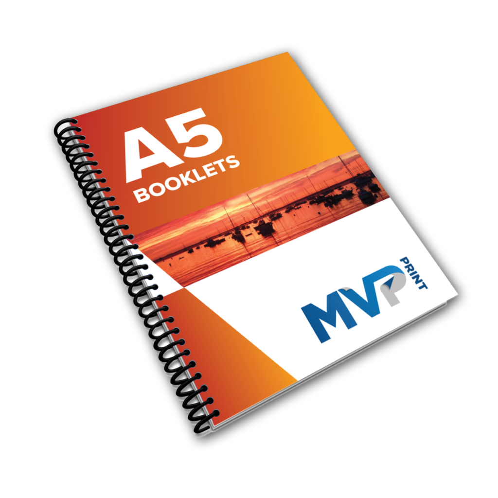 A5 Coil Bound Booklet Printing by MVP Print